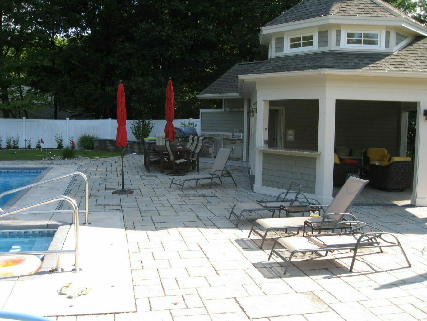 Pool landscape plan Latham, NY