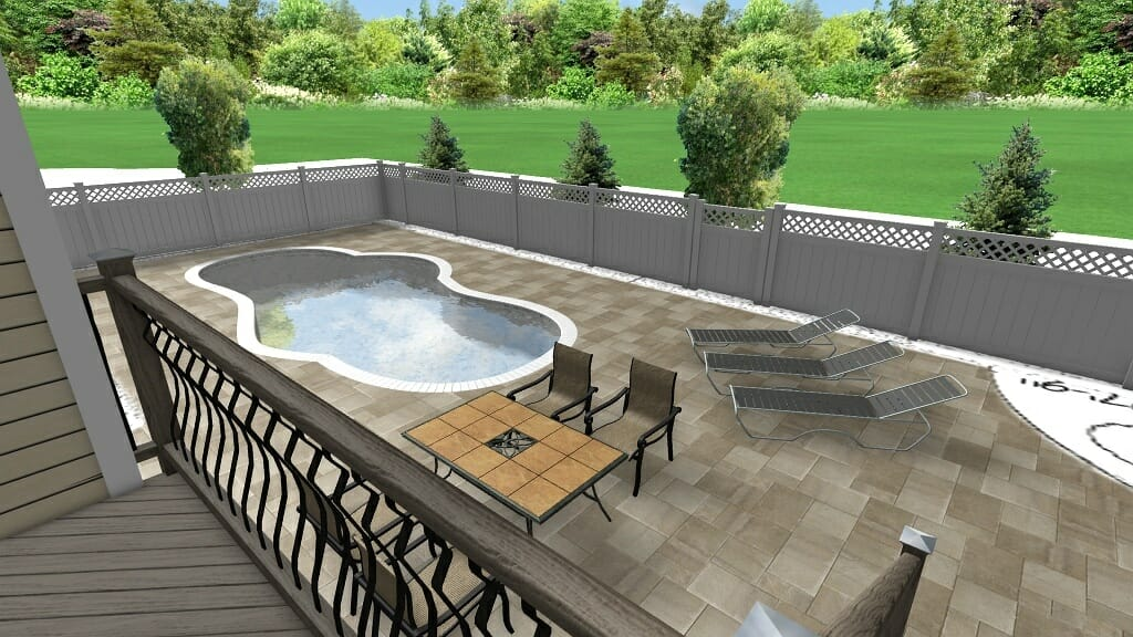 18pool landscape plan Saratoga County NY - Landscape Design Plan packages