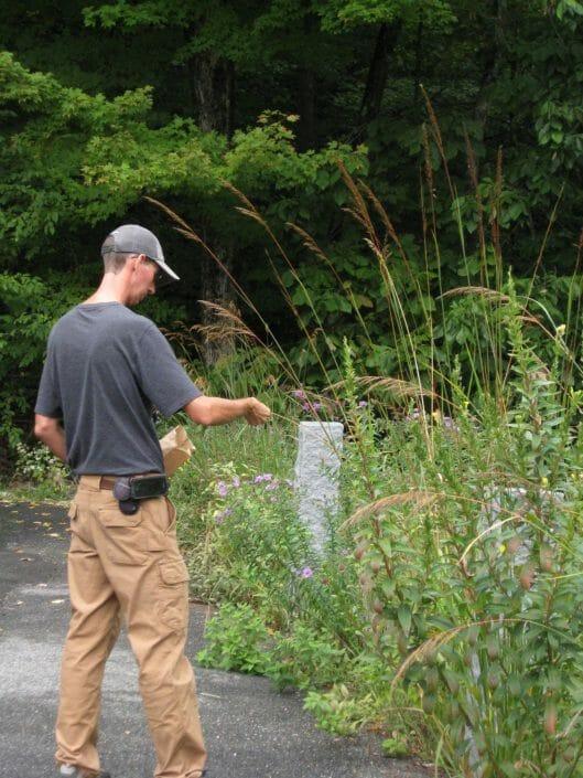John Kelly landscape designer photo gathering native plant seeds 529x705 - Who we are...