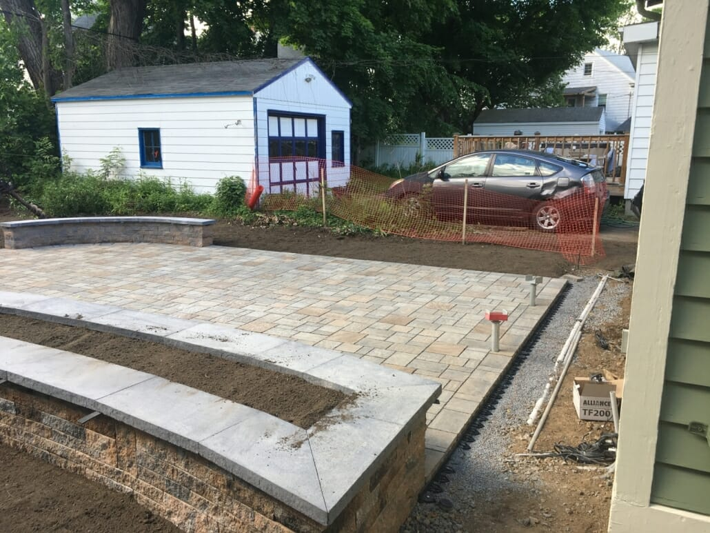Albany permeable patio construction