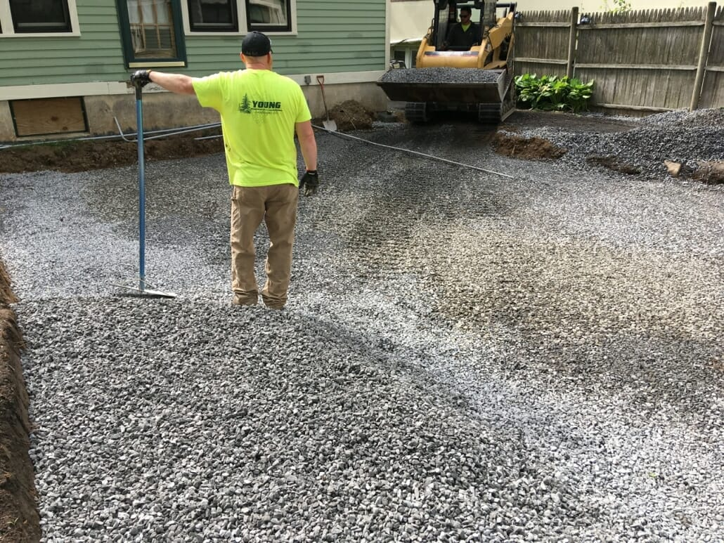 permeable patio drainage base design