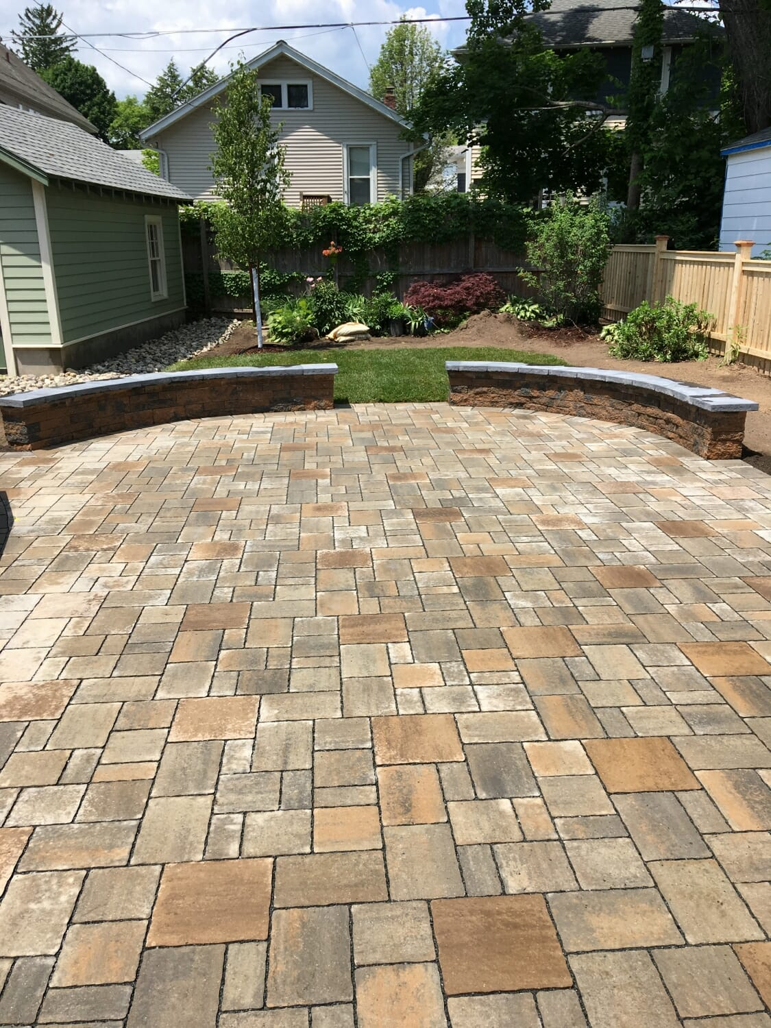 Permeable patio design in Albany, NY