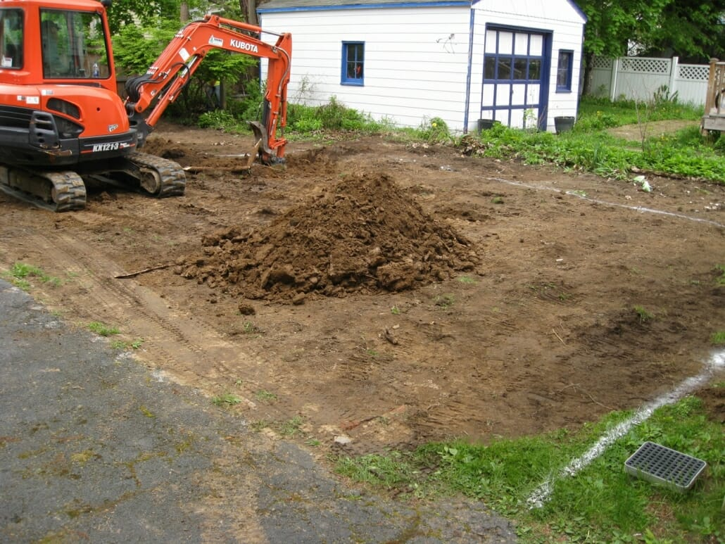 patio design excavation Albany