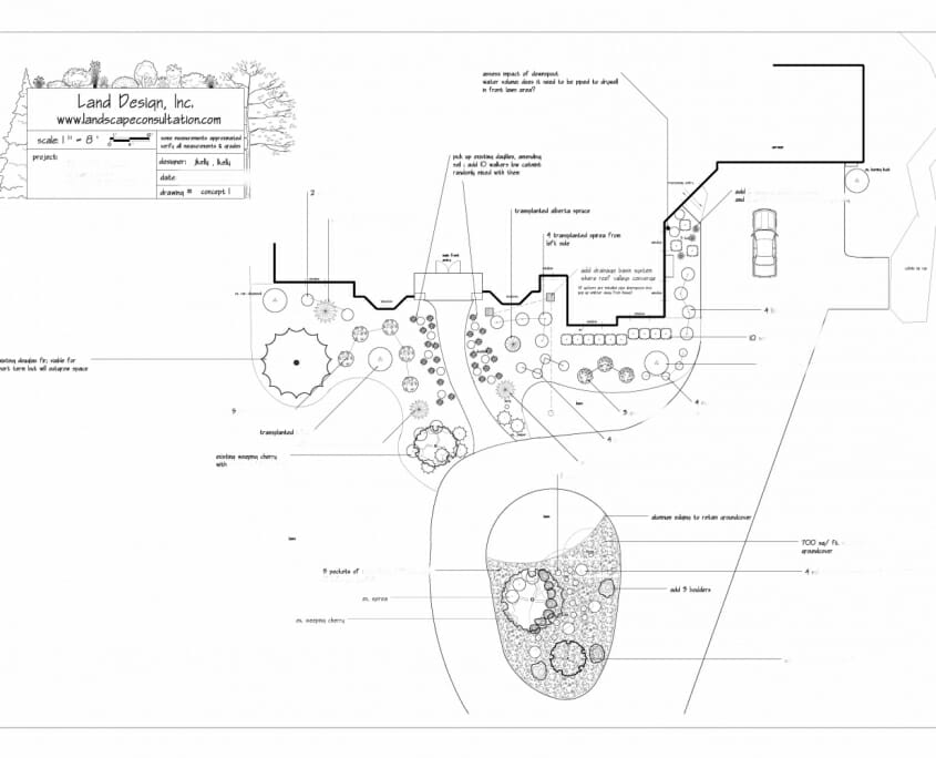 Front planting plan 845x684 - Landscape Design by Email in the Albany NY area