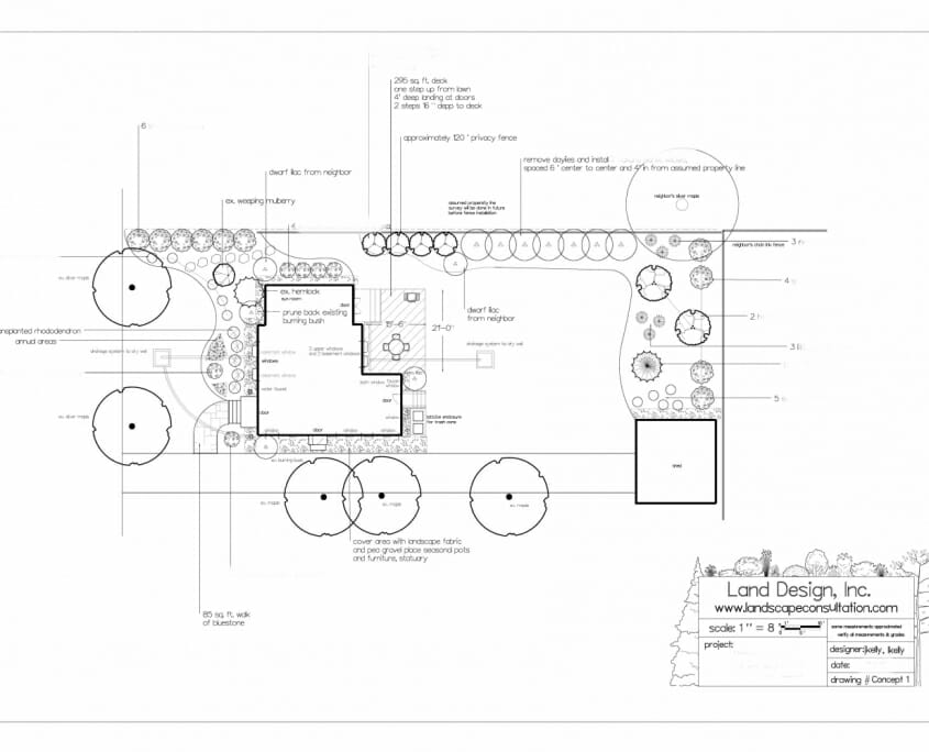 Small master planting plan 845x684 - Landscape Design by Email in the Albany NY area