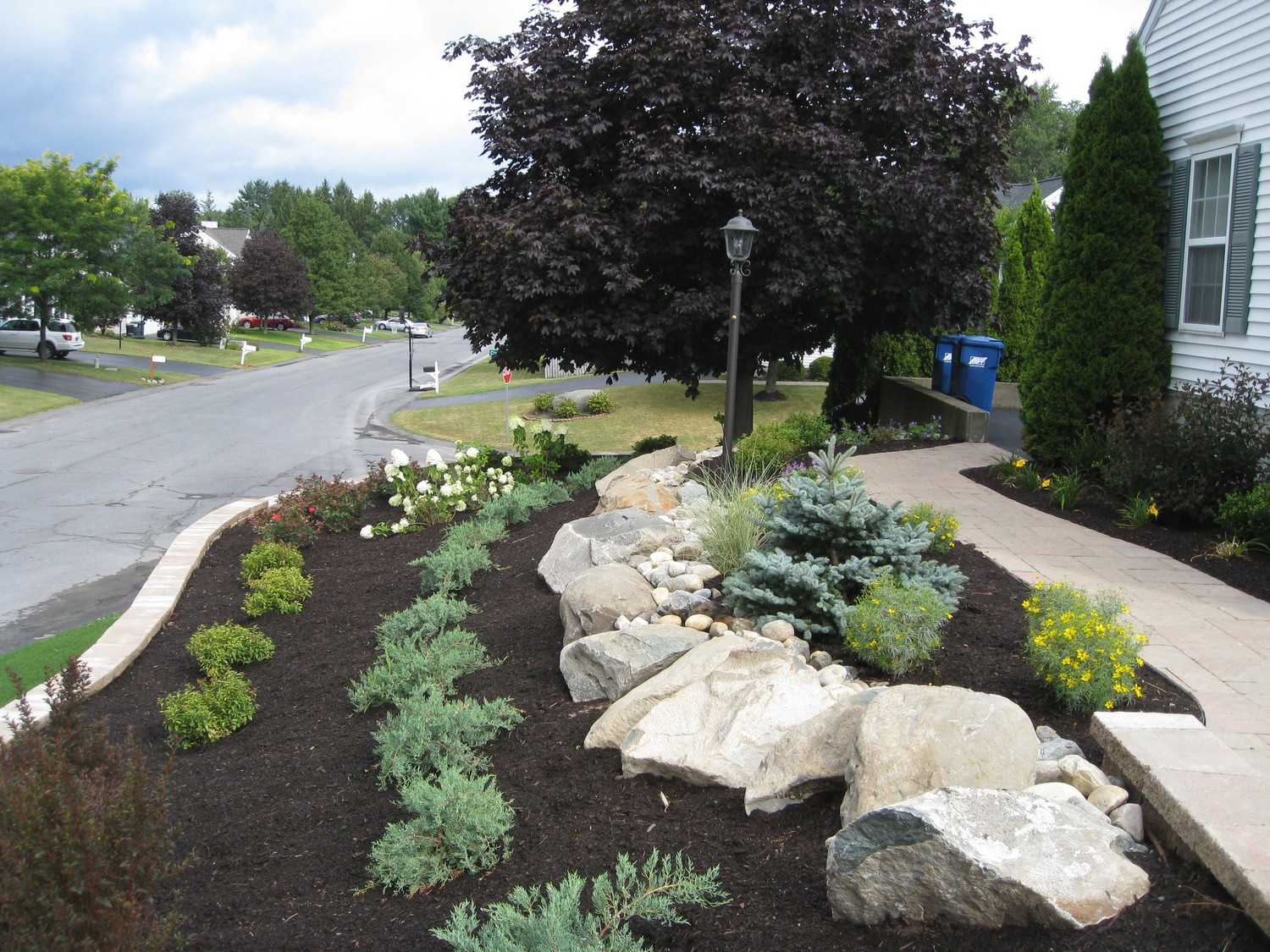 Retaining wall landscape design project albany ny for Landscape design