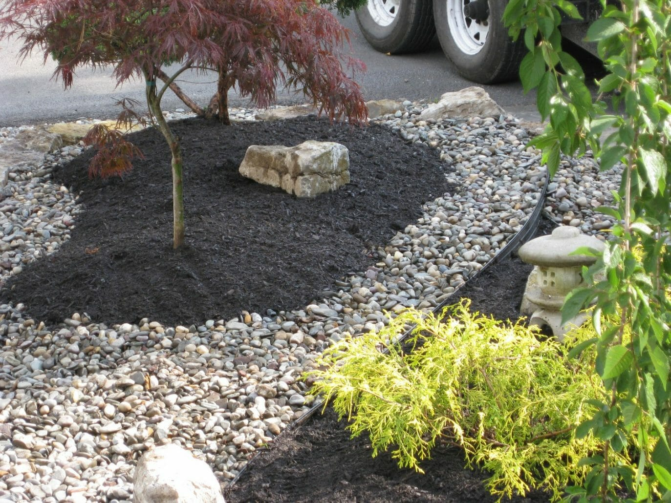 Albany NY landscaping garden design rocks 1373x1030 - Landscape Plan Installation and Project Management