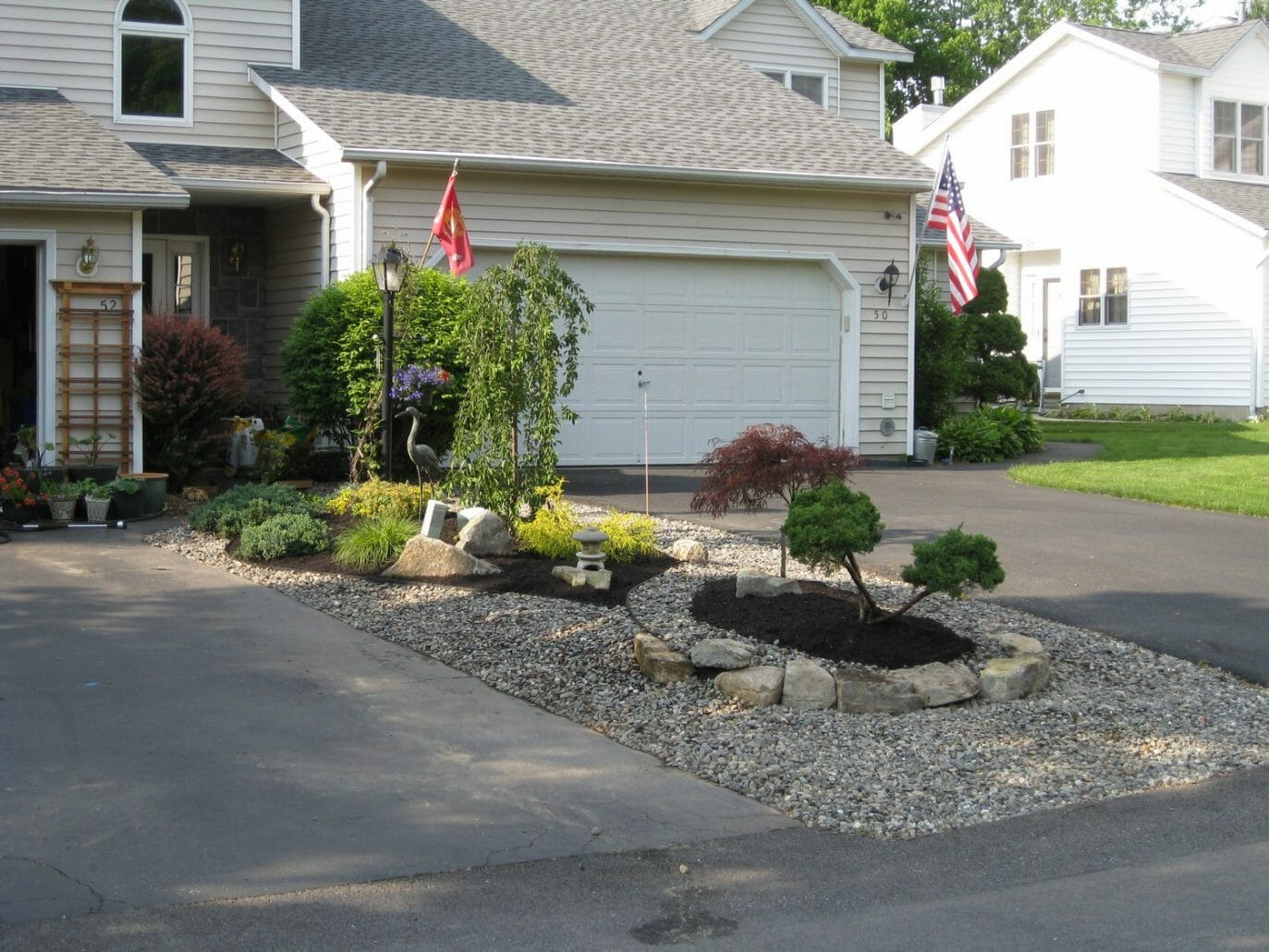 Albany NY townhome landscape design 1373x1030 - Landscape Plan Installation and Project Management