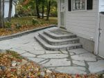 Averill Park NY side entrance design bluestone steps 150x113 - 2018 Landscape Design Portfolio page