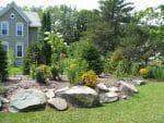 Delmar NY landscape design garden boulders 150x113 - Landscape Design Portfolio Albany's Capital District