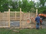 Latham Albany NY Cedar fenced garden installed 150x113 - Landscape Design Portfolio Albany's Capital District
