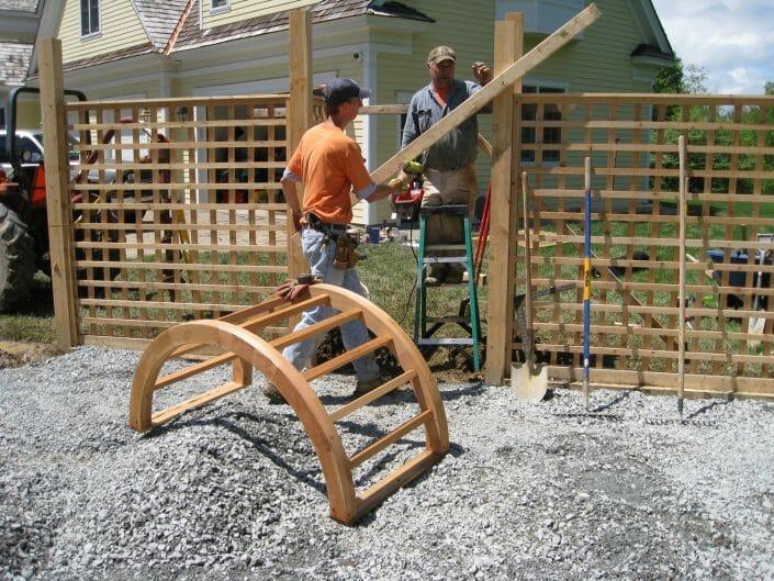 cedar garden fencing design ideas for vegetable garden design services
