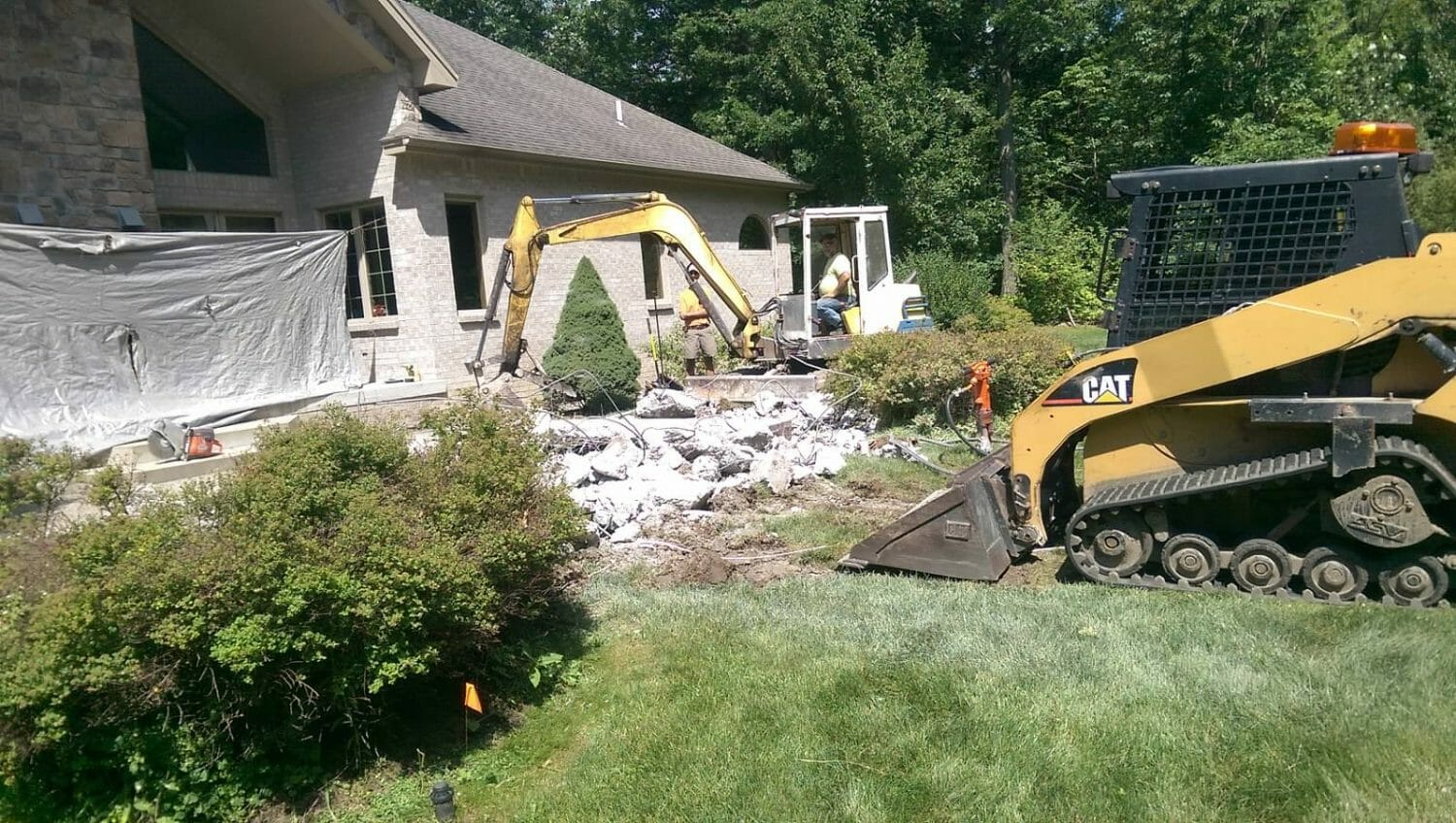 Wynantskill NY backyard landscape design construction 1500x848 - Landscape Plan Installation and Project Management