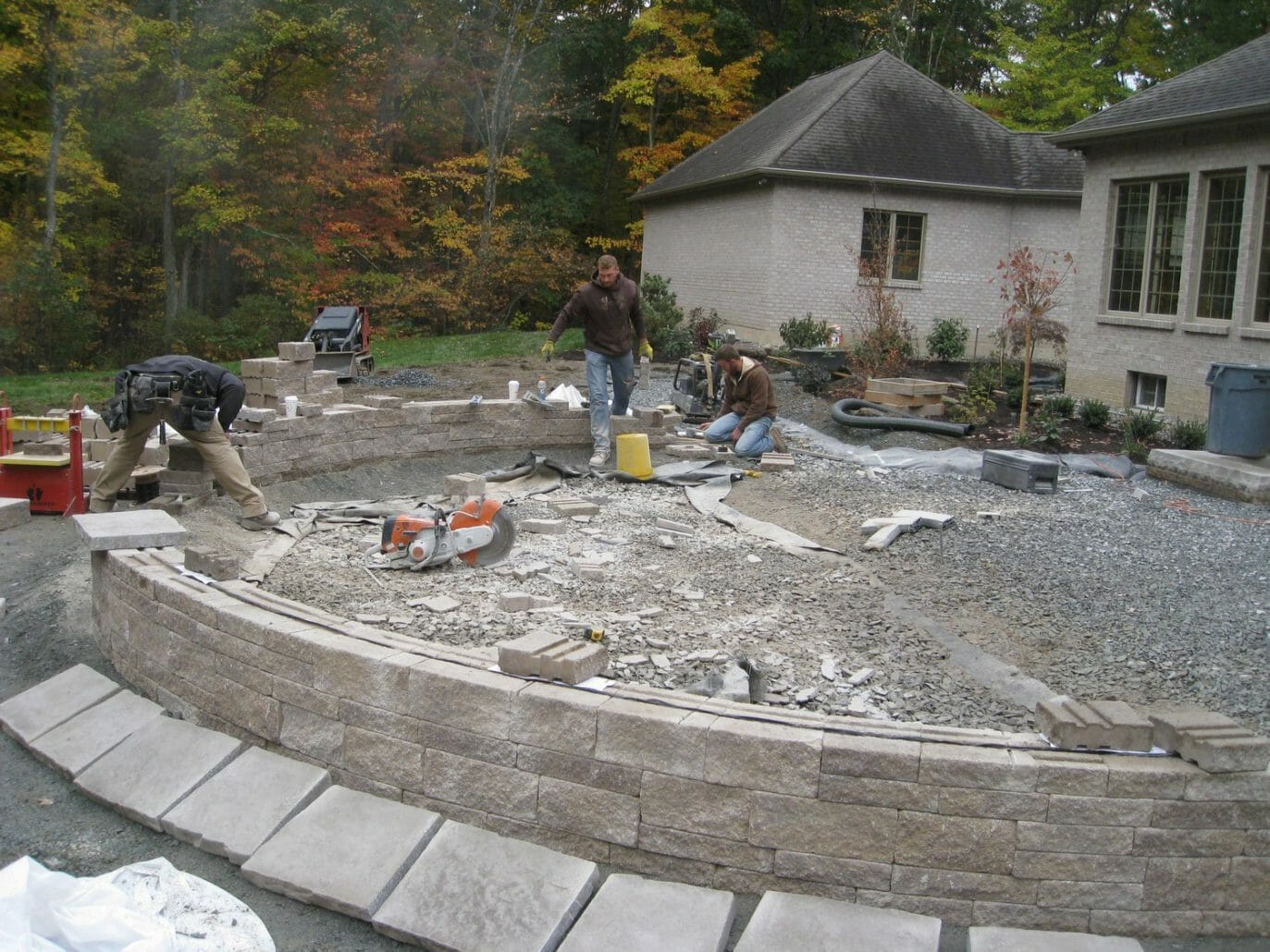 Wynantskill NY hardscape project installation 1373x1030 - Landscape Plan Installation and Project Management