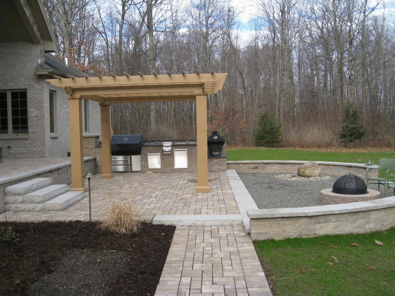 Wynantskill NY outdoor kitchen design 1373x1030 - Landscape Plan Installation and Project Management