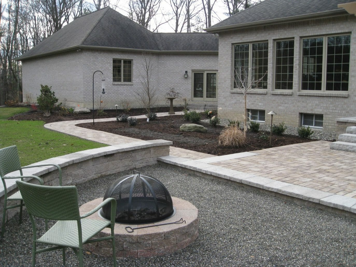 Wynantskill NY patio sidewalk landscape design 1373x1030 - Landscape Plan Installation and Project Management