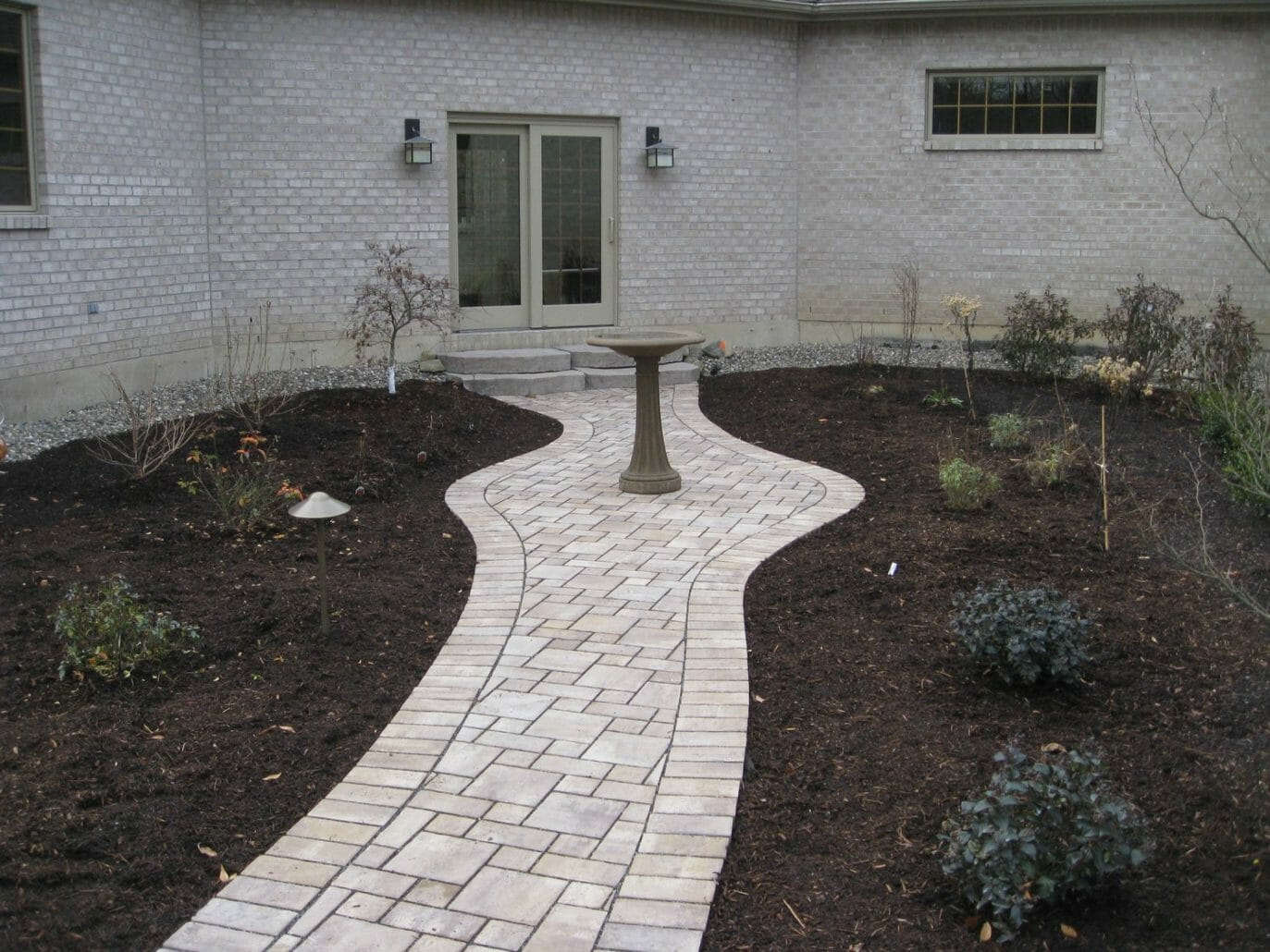 Wynantskill NY sidewalk landscape design 1373x1030 - Landscape Plan Installation and Project Management